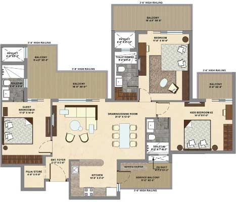 3 bhk floor plan, flat floor plan, home floor plans, home plans, new house design