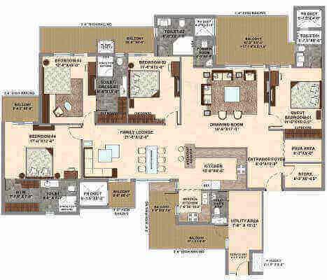 Marbella Grand, 4bhk floor plan, marbella grand luxury apartments, 4 bhk house plan, Property for sale