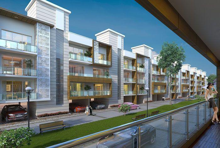 highland park ready to move 3bhk flats in zirakpur-cascade buildtech