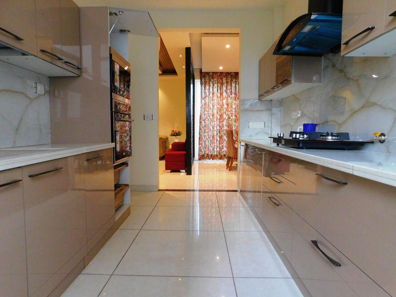 3bhk ready to move flats in zirakpur highland park modular kitchen-cascade buildtech