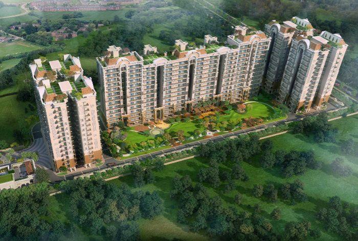 Affinity Greens 2-3-4 BHK Premium Flats in Zirakpur Ariel View-Cascade buildtech