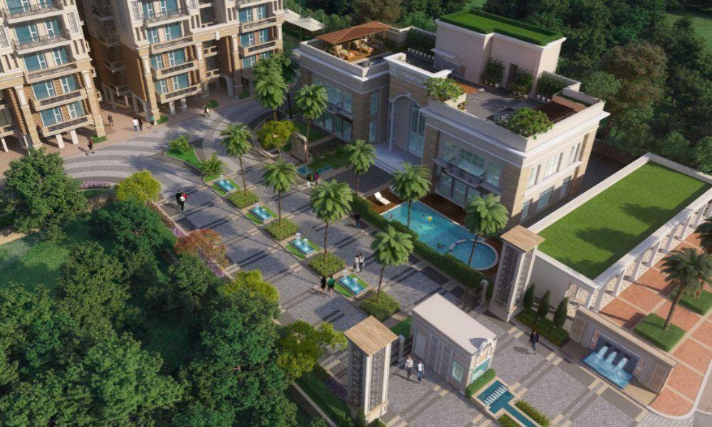 Affinity Greens 2-3-4 BHK Premium Flats in Zirakpur Top View-Cascade buildtech