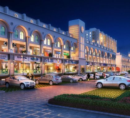 Real estate site modern commercial complex for office shops soho in Mohali Mews Gate-Cascade Buildtech