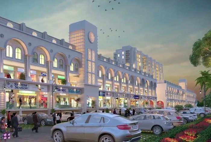 Modern Commercial Complex for officespace and shops for sale in Mohali Mews Gate-Cascade Buildtech