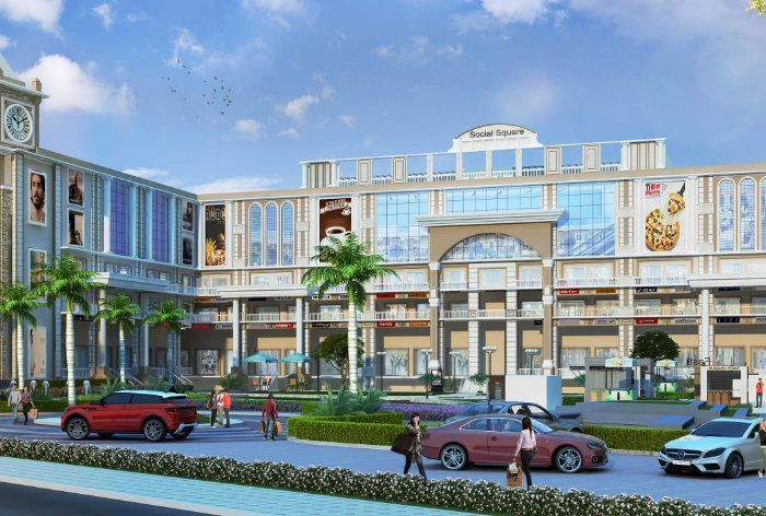 Social Square Commercial Property for Sale in Zirakpur, International Airport Chandigarh-Cascade buildtech