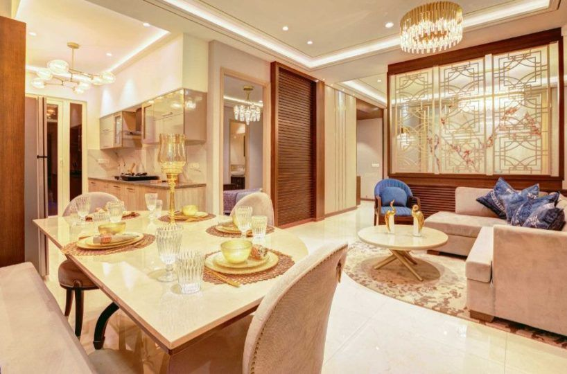 dining room Affinity Greens 2bhk 3bhk 4bhk Premium Flats in Zirakpur-Cascade buildtech