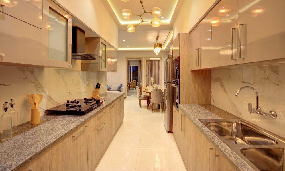 kitchen Affinity Greens 2bhk 3bhk 4bhk Premium Flats in Zirakpur-Cascade buildtech
