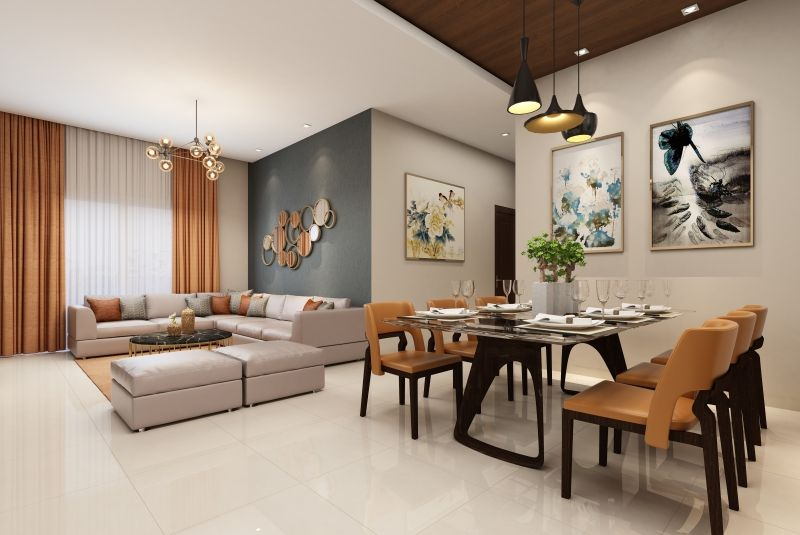 2bhk and 3bhk flats for sale Hero homes Mohali Dining room-cascade buildtech