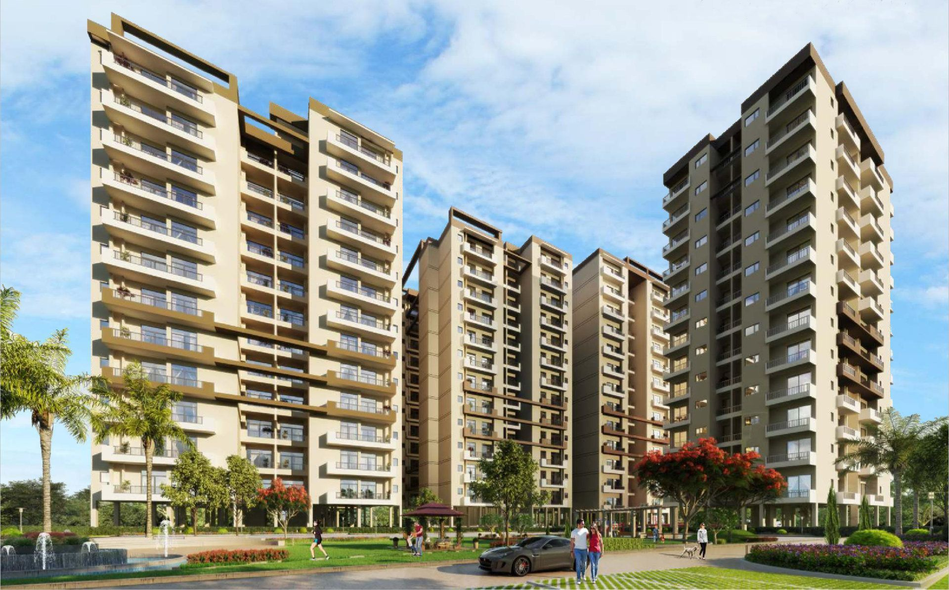 2-3-4bhk premium flats for sale in uptown skylla zirakpur