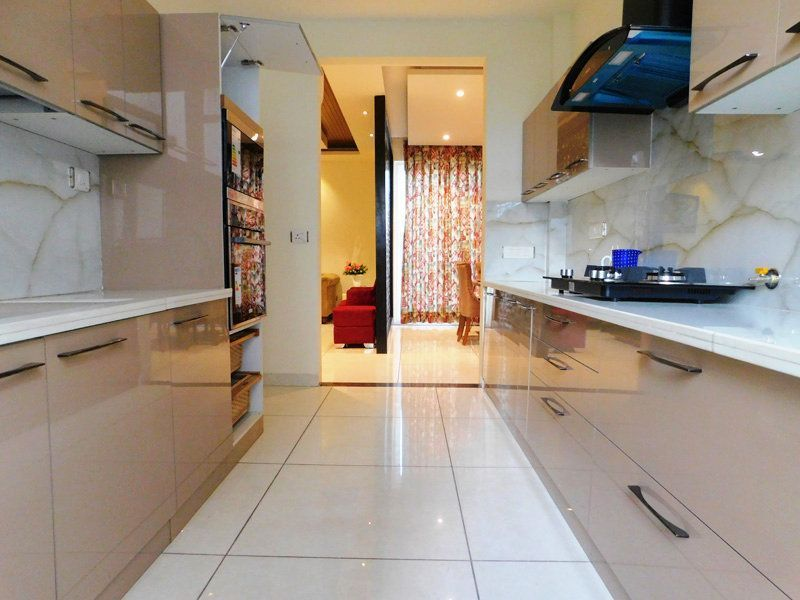 4bhk Ready To Move Flats For Sale in Highland Park Zirakpur Modular kitchen
