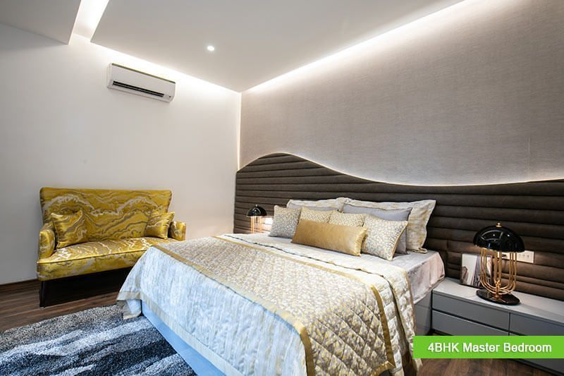 4bhk luxury apartment GBP Athens Zirakpur bedroom-cascade buildtech