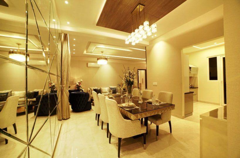 uptown skylla zirakpur 4bhk dining room - cascade buildtech