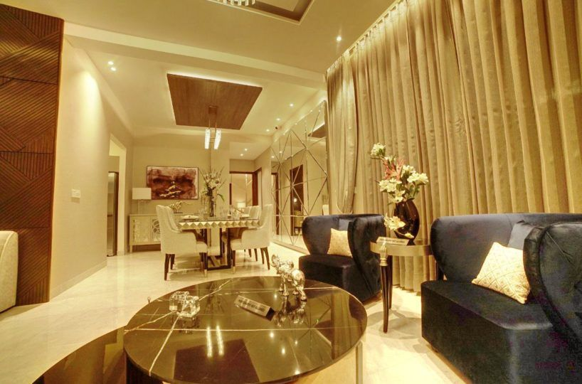 uptown skylla zirakpur drawing room 2bhk and 3bhk apartment for sale - cascade buildtech