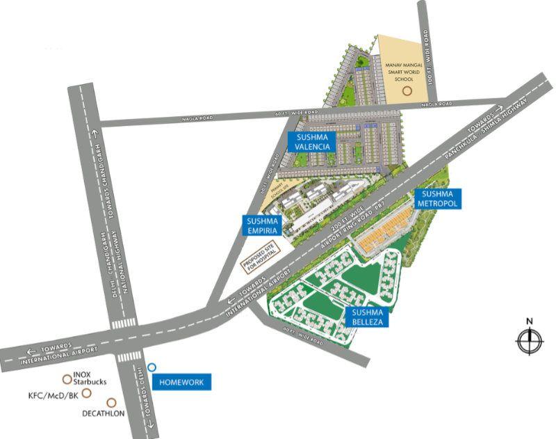 Sushma Valencia Location Map