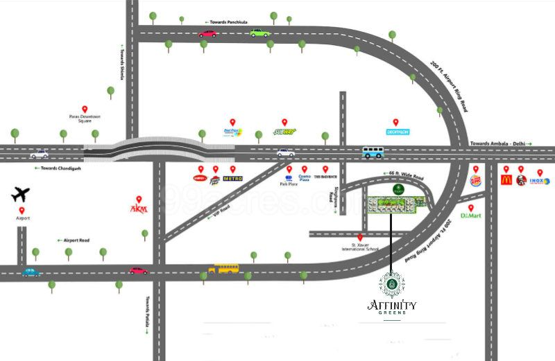 Affinity Greens Location Map