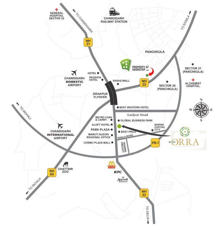 Bliss Orra Location Map