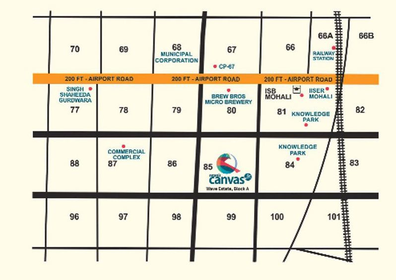Canvas Location Map