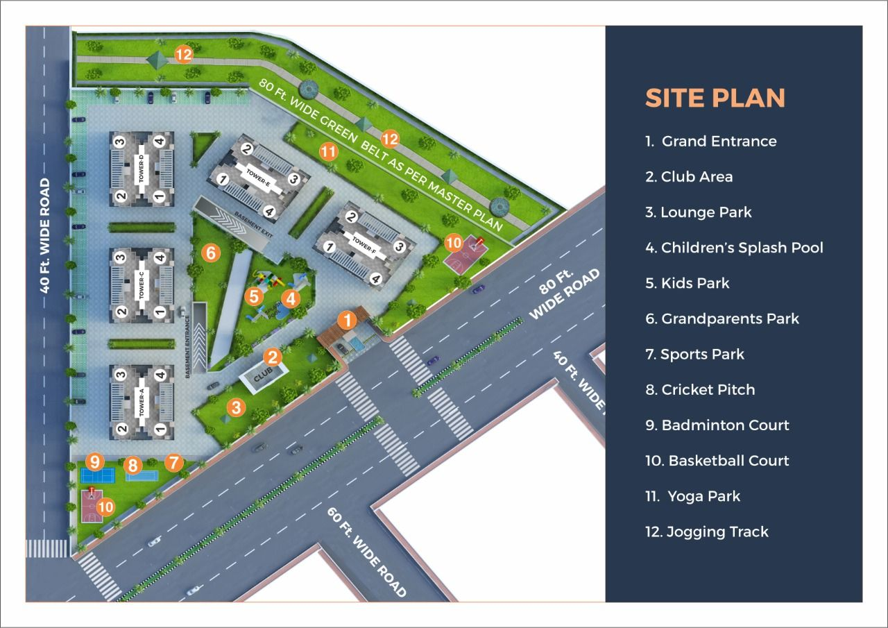 Site Plan of Prestige Towers Mohali